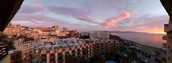 Pano from our Hotel Room.